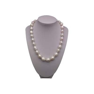 Necklace of real white pearls baroque PES3901A17A