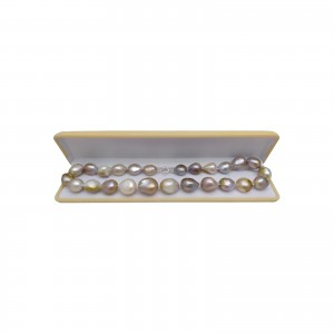 Necklace made of real freshwater baroque pearls 44 cm PNS01
