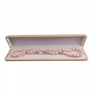 Classic necklace made of real pink pearls, round 45 cm PNS02-2