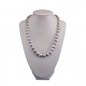 Necklace made of real silver pearls corn PNS03
