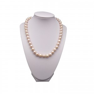 Necklace - pink pearls PNS13-C