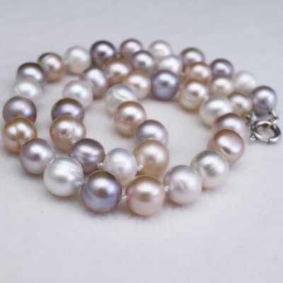 Necklace made of multi-colored pearls 46 cm PNS13-MIX