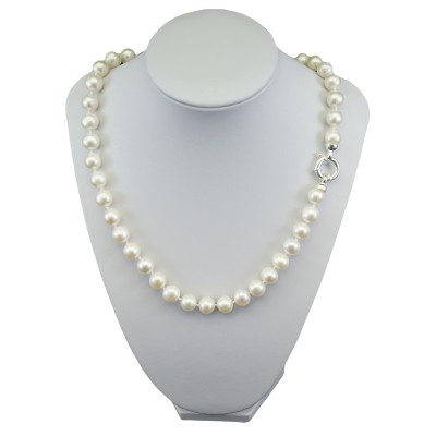 White round natural pearl necklace 49 cm PNS19