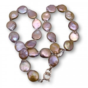 Pearls - natural pink coin PNS21
