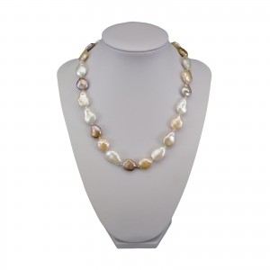 Necklace made of real multi-colored pearls 47 cm PNS21MIX