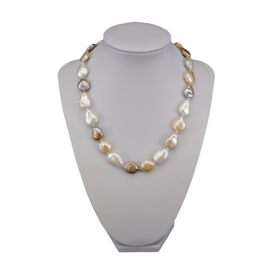 Necklace made of real multi-colored pearls 44.5 cm PNS21MIX