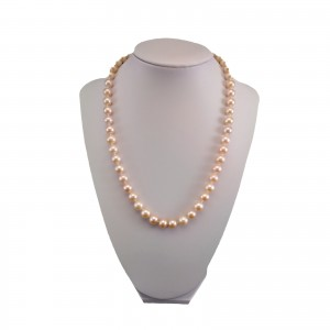 Necklace made of real pink pearls, 47 cm PNS27-B