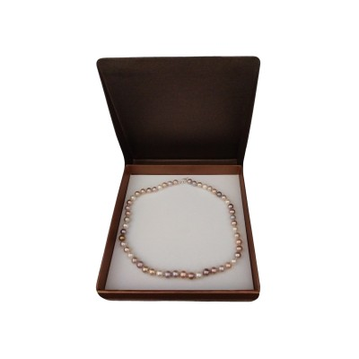 A necklace made of round pearls MIX 48 cm PNS27-C