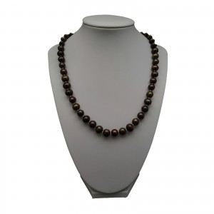 Necklace made of real round freshwater pearls 48 cm PES28-1