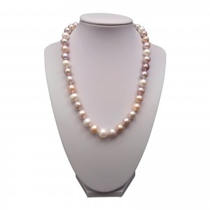 A necklace made of round pearls MIX PNS29-C
