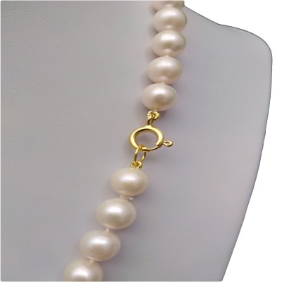 A necklace made of white pearls 46 cm PNS31