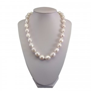 Necklace made of real white baroque pearls PNS39