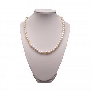 A necklace made of real multi-colored pearls 45 cm PN09MIX