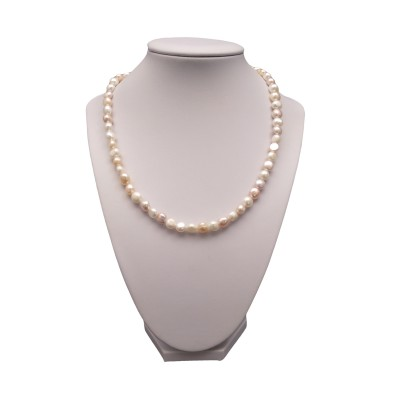 A necklace of white corn pearls PN09 MIX 45 cm