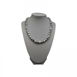 Silver necklace with real corn pearls 44 cm PN03