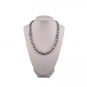 Necklace made of real silver corn pearls 45 cm PN09-C