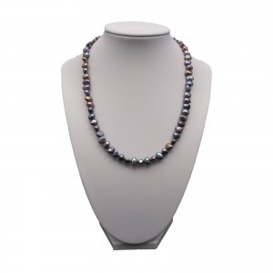Necklace made of real corn graphite pearls 43 cmPN10-D