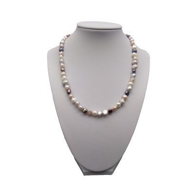 A necklace of colorful corn pearls 45 cm PN10 MIX