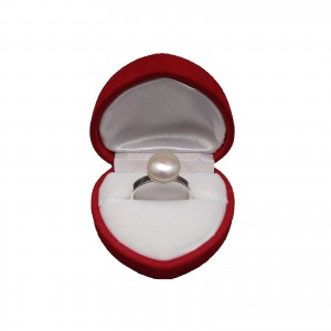 Ring with real white pearl 10 mm PPi08-A