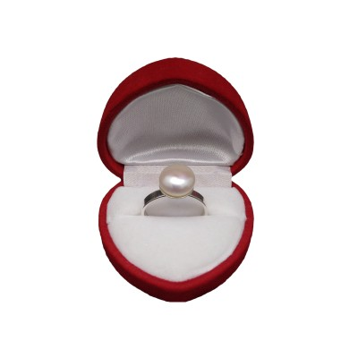 Ring with white pearl PPi08-A