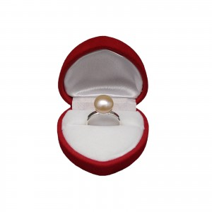 Classic ring with real pink pearl 10 mm PPi08-B