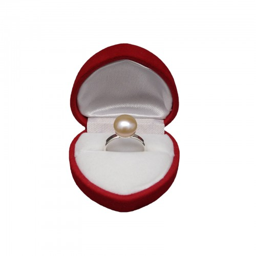 Ring with a pink pearl PPi08-B