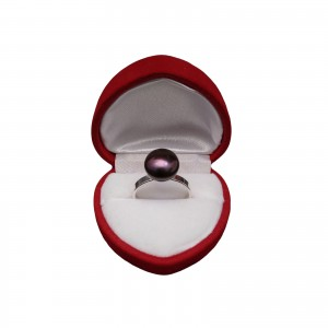 Silver ring with brown pearl 11 mm PPi09-B