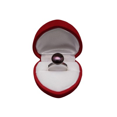 Ring with brown pearl PPi09-B