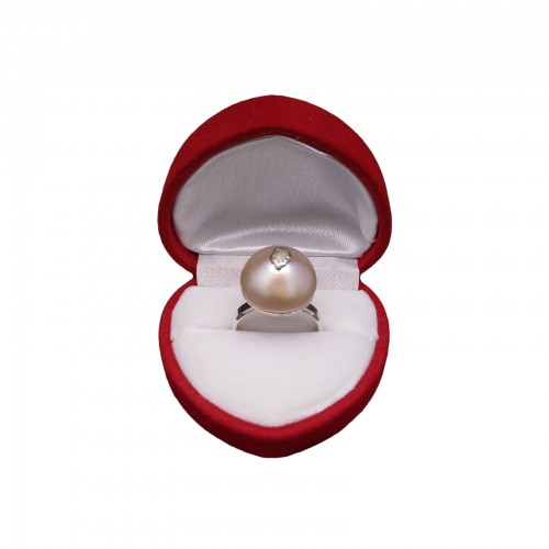 A ring with a pink pearl PPi21-2