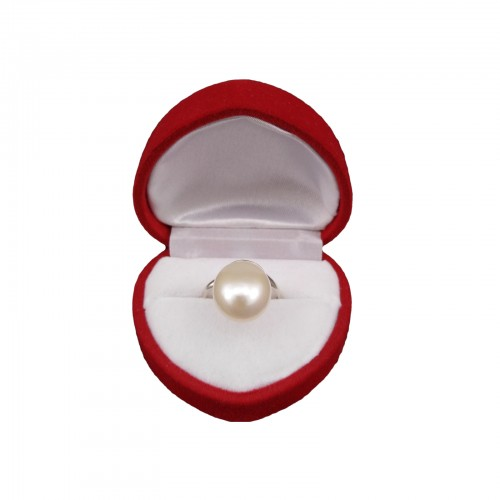Ring with white pearl PPi35-1