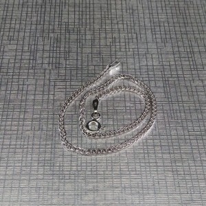 Classic bracelet made of rhodium-plated silver with a weave of 19 cm SB22