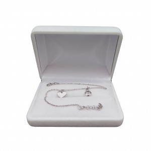 Silver bracelet celebrity with zircon and heart SBC16