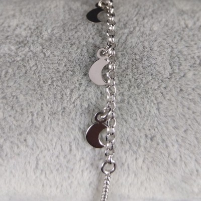 Silver bracelet three moons celebrity 17 cm SBC19M