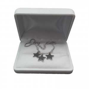 Silver bracelet three stars celebrity 18 cm SBC25M