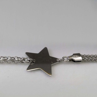 Silver bracelet with a star celebrity 17 cm SBC31M