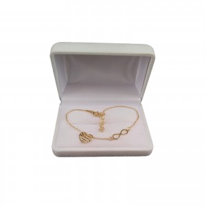 Silver bracelet celebrity infinity and gold plated heart 17.5 cm SBPC04