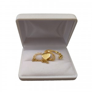 Silver gilt bracelet with the heart of the celebrity 17 cm SBPC15M