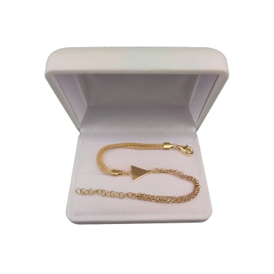 Silver bracelet with gold-plated with triangle celebrity 17 cm SBPC16M