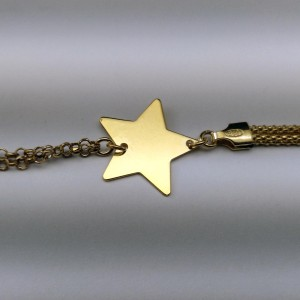 Silver-plated gilded big celebrity star bracelet SBPC18M