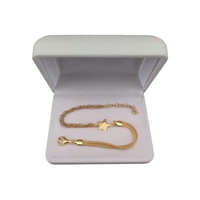 Gold-plated silver bracelet, small star celebrity 17 cm SBPC19M