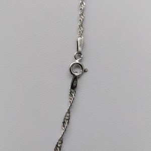 Silver necklace, rhodium-plated 45, 50 or 55 cm SL23