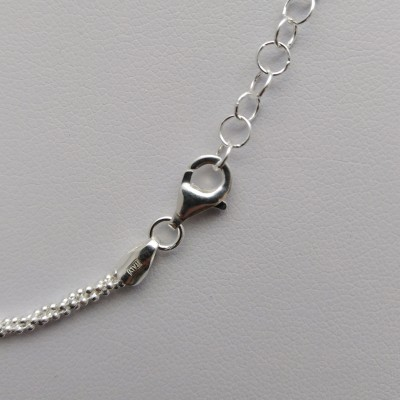 Triple silver chain with a ball weave 42 cm SL33