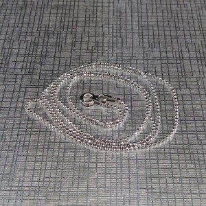 Silver rhodium chain with ball weave 45 and 50 cm SL34