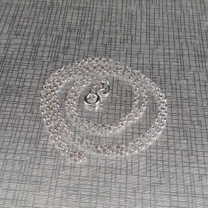 Rhodium-plated silver chain with rolo weave 60 and 70 cm SL35