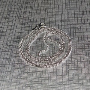 Silver rhodium plated chain with Korean weave 45 and 50 cm SL36