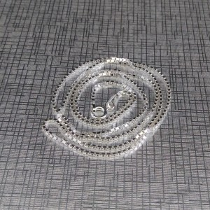 Silver shiny chain with ankle weave 50 and 55 cm SL37