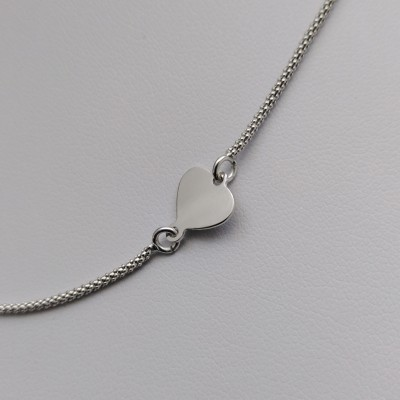 Silver chain with heart 41 cm SLC15M