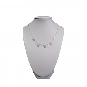 Silver chain cardiac heart with cubic zirconia 43 cm SLC18