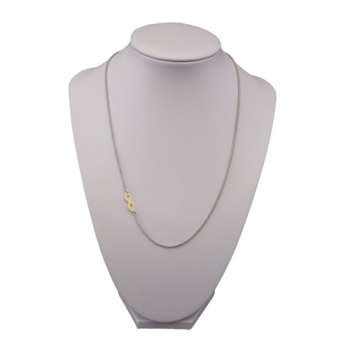 Gold-plated silver chain 42 cm SLC22M