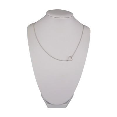 Silver heart chain 42 cm SLC25M